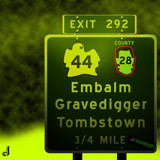 AU Road Signs - Exit 292 by Jhihmoac, illustrations->digital gallery