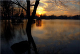 Sunset Over Flooded Waters by tigger3, Photography->Sunset/Rise gallery