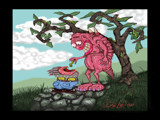 """Feeding the Little One"" by HazyHairs, Illustrations->Digital gallery"