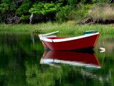 red dinghy on a grey afternoon by solita17, Photography->Boats gallery