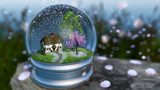 Cherry Blossom Globe by Akeraios, computer->landscape gallery
