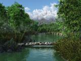 Mountain Lake by GunnerMan, Computer->Landscape gallery