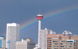 Rainbow Over the Tower (Widescreen) by cristovao12, Photography->City gallery