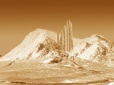 Crystal Ice Palace in Sepia - (from Cottage in Glencoe) by jaecee666, Contests->Fantasy Landscapes gallery