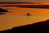 kayaker in deep orange by solita17, Photography->Sunset/Rise gallery
