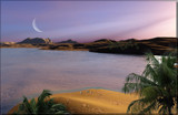 Oasis Sunset by Foxfire66, computer->landscape gallery