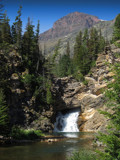 Running Eagle Falls - Glacier National Park by nmsmith, photography->waterfalls gallery