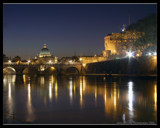 Crisp Rome at Night (Ponte Saint Angelo) by ajmitchell, Photography->City gallery