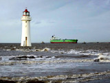 The Lighthouse, The Tugs and The Giant Tanker by braces, Photography->Lighthouses gallery