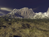 Distant Mountain by Mannie3, computer->landscape gallery