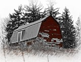Old, Old Barn on a Hill by Starglow, photography->manipulation gallery