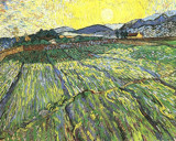 Enclosed Field with Rising Sun by Vincent van Gogh, Illustrations->Traditional gallery