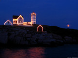 Nubble Moonrise by xentrik, photography->architecture gallery