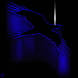 Neon Raven by Jhihmoac, illustrations->digital gallery
