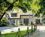 Cathedral Close Winchester by Trevorcardigan, Illustrations->Traditional gallery