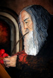 Gandalf and his pipe by JQ, illustrations->traditional gallery