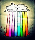 Cloud Shooting a Rainbow by justinspickle, illustrations->digital gallery
