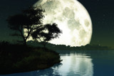 Big Moon On Lake by fog76, Computer->Landscape gallery