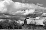 Black and White Barn Drama by verenabloo, Photography->Landscape gallery