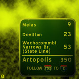 AU Road Signs - Mileage by Jhihmoac, illustrations->digital gallery