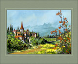 Mountain village Northern Spain by Trevorcardigan, Illustrations->Traditional gallery