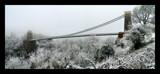 Image: Clifton Suspension Bridge in snow