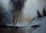 MISTY WINTER MOON by nuke88, illustrations->traditional gallery