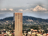 Mt. Hood Looms, the Original Photo. by verenabloo, Photography->City gallery