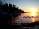 Frozen Alaskan Bay at Sunset by Pistos, photography->shorelines gallery