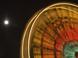 Ferris Wheel Moon by senorsam21, photography->action or motion gallery