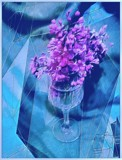 Lilac Goblet Abstract by mesmerized, abstract gallery