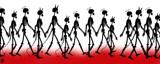 Walking Skeletons by Jhihmoac, illustrations->digital gallery