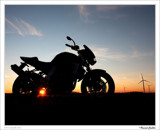 Eole and the bike by Cyspak, Photography->Sunset/Rise gallery