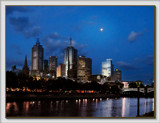 Moon Over Melbourne by LynEve, Photography->City gallery