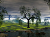 From across Willow Creek by DixieNormus, Computer->Landscape gallery