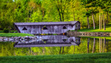 Norvell Covered Bridge in green by stylo, photography->bridges gallery