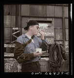 Stepping out of time A welder eating ice cream by rvdb, photography->manipulation gallery