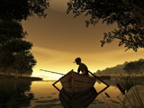 Fishing at Sunset by WENPEDER, Computer->3D gallery