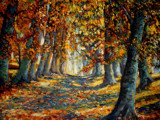 Autumn-oil painting by 89037, Illustrations->Traditional gallery