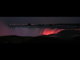 Niagara Falls Glowing Red by Voelker2k, photography->waterfalls gallery