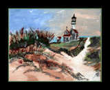 Canvas Painting: The Lighthouse by verenabloo, Illustrations->Traditional gallery