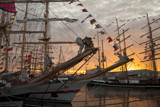 Tall ships sunset by Leahcim_62, photography->boats gallery