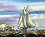 Speed on the water (long ago ) by Trevorcardigan, Illustrations->Traditional gallery