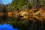 Blue River Reflections by billyoneshot, photography->shorelines gallery