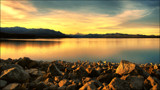 Pukaki Golden Glow by LynEve, photography->sunset/rise gallery