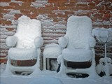 SNOW CHAIRS! by JOHNLAKEBURR, Photography->Gardens gallery