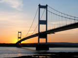 Nightfall across the Severn Estuary # 1 by gonedigital, photography->bridges gallery