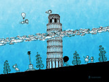 The Leaning Tower of Pisa by vladstudio, Illustrations->Digital gallery