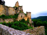 The Ruins of Schloss Hohenurach...The South Wall by G8R, photography->castles/ruins gallery