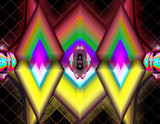 Fuzzy Diamonds by Flmngseabass, abstract gallery